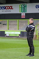 Forest Green Rovers manager, Mark Cooper watches training during the Forest Green Rovers Press Conference and Training session at the New Lawn, Forest Green, United Kingdom on 12 May 2017. Photo by Shane Healey.