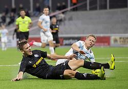 Anders Bærtelsen (Vendsyssel FF) og Jeppe Kjær (FC Helsingør) under kampen i 1. Division mellem FC Helsingør og Vendsyssel FF den 18. september 2020 på Helsingør Stadion (Foto: Claus Birch).