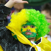 An Australian fan during the Australia V USA, Pool C match during the IRB Rugby World Cup tournament. Wellington Stadium, Wellington, New Zealand, 23rd September 2011. Photo Tim Clayton...