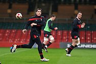 Wales rugby team training at the Millennium stadium in Cardiff on Friday 10th Feb 2012.  pic by Andrew Orchard, Andrew Orchard sports photography,