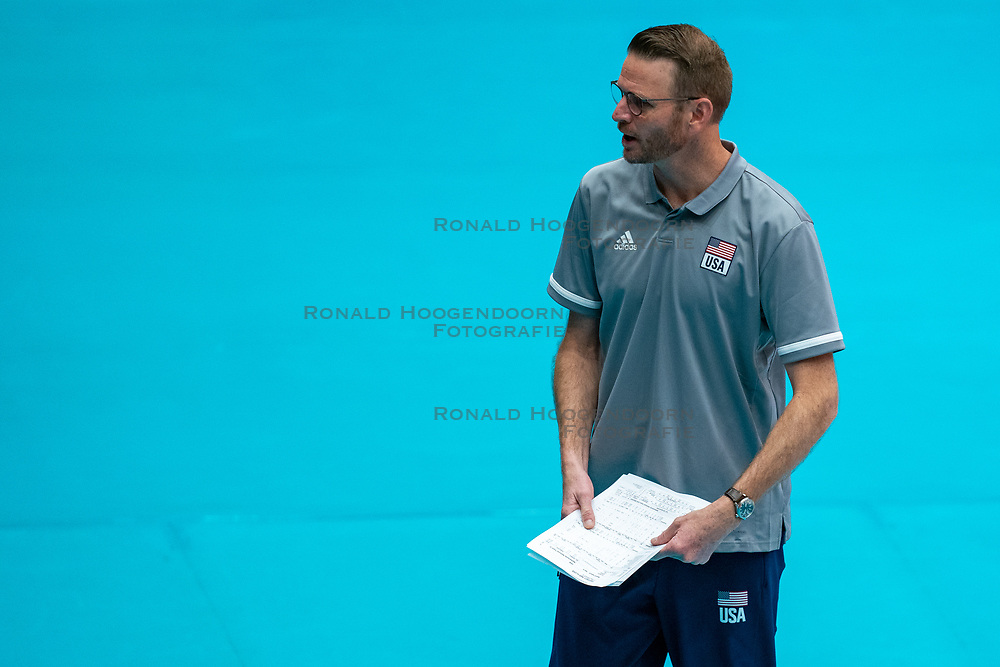 USA Coach in action during United States - Netherlands, FIVB U20 Women's World Championship on July 15, 2021 in Rotterdam