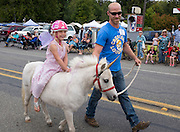 Fairy on a unicorn, at the Joyce Daze parade in Joyce WA, west of Port Angeles.
