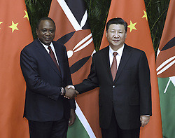 SHANGHAI, Nov. 4, 2018  Chinese President Xi Jinping (R) meets with Kenyan President Uhuru Kenyatta in Shanghai, east China, Nov. 4, 2018. (Credit Image: © Rao Aimin/Xinhua via ZUMA Wire)