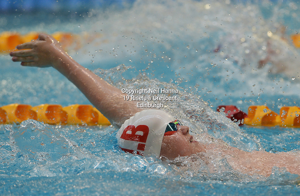 British Para-Swimming International Meet 2016, Tollcross Swimming Centre, Glasgow.<br /> <br /> Event 202 Mens MC 100m Backstroke <br /> <br /> Lewis Beagrie<br /> <br /> <br />  Neil Hanna Photography<br /> www.neilhannaphotography.co.uk<br /> 07702 246823