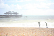 Brighton beach A few years ago, I caught an eye infection, in the middle of summer. It was unusually sunny in Normandy where I spent my holidays. The sun was burning my eyes, especially on the beach with the reflection of the sea and the sand. I started to take overexposed pictures to reflect what I could painfully see : almost burnt landscapes. I loved the result. My eyes healed but something changed in the way I saw the seaside. The extreme light and pain endured by the eyes could only be balanced with overexposing the images, making them look almost like watercolours, as if drowned in the sea...