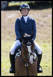 August 5, 2017 - United Kingdom - Image licensed to i-Images Picture Agency. 05/08/2017. Gatcombe Park, United Kingdom.  Zara Tindall warms up before competing  in the show jumping event on the second day of the Festival of British Eventing at Gatcombe Park, United Kingdom.  Picture by Stephen Lock / i-Images (Credit Image: © Stephen Lock/i-Images via ZUMA Press)