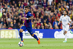 May 6, 2018 - Barcelona, Catalonia, Spain - FC Barcelona midfielder Paulinho (15) during the match between FC Barcelona v Real Madrid, for the round 36 of the Liga Santander, played at Camp nou  on 6th May 2018 in Barcelona, Spain. (Credit Image: © Urbanandsport/NurPhoto via ZUMA Press)