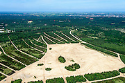 Nederland, Utrecht, Amersfoort, 09-06-2016;  Militair oefenterrein Leusderheide. Sporen van tracks rupsbanden.<br />  Militair training site  Leusderheide.<br /> <br /> luchtfoto (toeslag op standard tarieven);<br /> aerial photo (additional fee required);<br /> copyright foto/photo Siebe Swart, 09-06-2016;