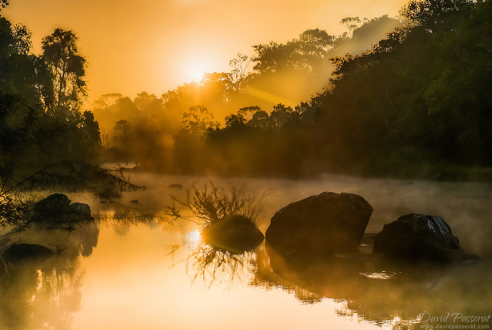 Sun rising over the river.