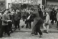 """Paris.1955.Demonstrations in Paris' """"Latin Quarter"""".<br /> <br /> <br /> Paris.1955.Demonstrations dans le Quartier Latin  de Paris ."""