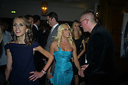 DONATELLA VERSACE; ALLEGRA VERSACE; GILES DEACON , Vogue's Celebration of Fashion Dinner in association with Creme de la Mer. the Albermarle, Browns Hotel. Albermarle st. London. 18 September 2008. *** Local Caption *** -DO NOT ARCHIVE-© Copyright Photograph by Dafydd Jones. 248 Clapham Rd. London SW9 0PZ. Tel 0207 820 0771. www.dafjones.com.