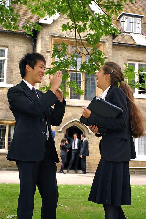 6th formers, Hockerill Anglo-European College,international boarding school, Bishop's Stortford.
