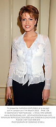 TV presenter NATASHA KAPLINSKY at a reception in London on 11th March 2003.PHW 128