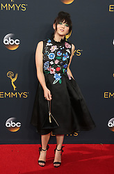 Maisie Williams arriving for The 68th Emmy Awards at the Microsoft Theater, LA Live, Los Angeles, 18th September 2016.