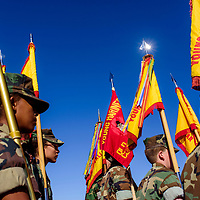 A battalion of Young Marines marches in the Navajo Code Talker Day parade in Window Rock Monday.