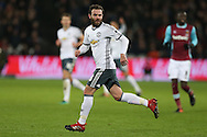 Juan Mata of Manchester United in action. Premier league match, West Ham Utd v Manchester Utd at the London Stadium, Queen Elizabeth Olympic Park in London on Monday 2nd January 2017.<br /> pic by John Patrick Fletcher, Andrew Orchard sports photography.