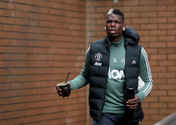 Manchester United's Paul Pogba arrives at turf moor