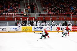 during derbi between  HDD SIJ Acroni Jesenice vs HK SZ Olimpija Ljubljana. October 12, 2021 in Ice Arena Podmezakla, Jesenice, Slovenia. Photo by Peter Podobnik / Sportida