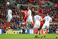 Portugal defender, Ricardo Carvalho (06) missing a header during the Friendly International match between England and Portugal at Wembley Stadium, London, England on 2 June 2016. Photo by Matthew Redman.