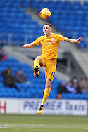 Alan Browne of Preston NE in action. Skybet football league championship match, Cardiff city v Preston NE at the Cardiff city stadium in Cardiff, South Wales on Saturday 27th Feb 2016.<br /> pic by  Andrew Orchard, Andrew Orchard sports photography.