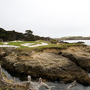 Cypress Point Golf Club course photos of holes 15 and 16.