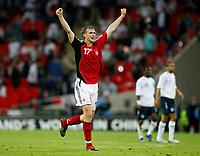 Photo: Richard Lane/Sportsbeat Images.<br />England v Germany. International Friendly. 22/08/2007. <br />Germany's Per Mertesacker celebrates victory.