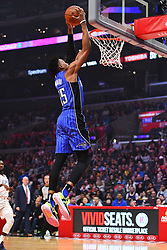 January 6, 2019 - Los Angeles, CA, U.S. - LOS ANGELES, CA - JANUARY 06: Orlando Magic Forward Wes Iwundu (25) goes up for a dunk during a NBA game between the Orlando Magic and the Los Angeles Clippers on January 6, 2019 at STAPLES Center in Los Angeles, CA. (Photo by Brian Rothmuller/Icon Sportswire) (Credit Image: © Brian Rothmuller/Icon SMI via ZUMA Press)