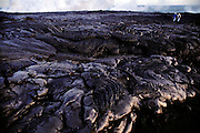 New Lava flow from Kilauea eruption. Kilauea most recently erupted in 1983 and lava has flown consistently since then. It is one of the world's most active volcanoes. Hawaii Big Island. USA.
