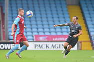 Bournemouth loanee Frank Vincent (23) of Scunthorpe United controls the ball during the Pre-Season Friendly match between Scunthorpe United and Doncaster Rovers at Glanford Park, Scunthorpe, England on 15 August 2020.