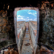 At San Felipe Del Morro in Old San Juan, Puerto Rico, inside one of the lookouts.