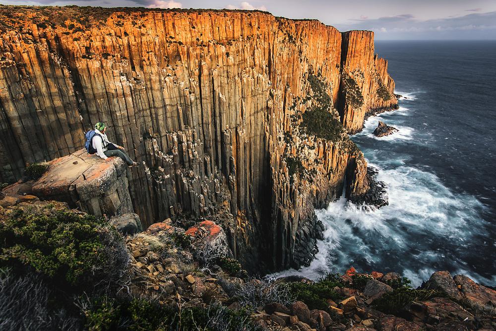 300m high cliffs of Cape Raoul, Tasmania.