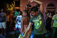 During one night show of African dance in the Plazoleta Teresa Batista in Pelourinho