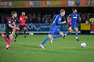 AFC Wimbledon midfielder Mitchell (Mitch) Pinnock (11) dribbling during the EFL Sky Bet League 1 match between AFC Wimbledon and Peterborough United at the Cherry Red Records Stadium, Kingston, England on 18 January 2020.
