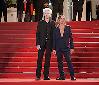 Iggy Pop and Director Jim Jarmusch at the gala screening for the film Gimme Danger at the 69th Cannes Film Festival, Thursday 19th May 2016, Cannes, France. Photography: Doreen Kennedy