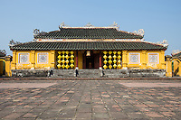"""""""Palace of Longevity"""" or Truong Sanh Residence was the home of King Tu Duc's mother, Empress Tu Du of the Nguyen Dynasty within the Hue Citadel palace grounds. The residence contains decorative rock formations and its colorful palace gate."""