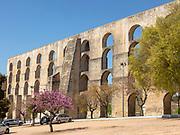 Amoreira aqueduct, Aqueduto da Amoreira, town of  Elvas, Alentejo,  Portugal, Southern Europe built on the foundations of pre-existing Roman aqueduct