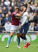 Football - 2018 / 2019 Premier League - Tottenham Hotspur vs. West Ham United<br /> <br /> West Ham United's Mark Noble with Tottenham Hotspur's Danny Rose, at The Tottenham Hotspur Stadium.<br /> <br /> COLORSPORT/ASHLEY WESTERN