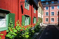 Stockholm, Sweden. Djurgårdsstaden, Breda Gatan.