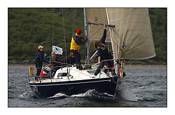 Yachting- The first days inshore racing  of the Bell Lawrie Scottish series 2002 at Tarbert Loch Fyne. Near perfect conditions saw over two hundred yachts compete. <br />Megalopolis Humphries IRL3922 class 2<br />Pics Marc Turner / PFM