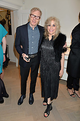 BRIX SMITH START and PHILIP START at a party to celebrate the launch of the new Stephen Webster Salon at 130 Mount Street, London on 18th May 2016.