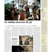 """Tearsheet of """"Nuba Mountains"""" (text and photos) published in Expresso"""