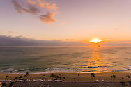 Sunrise over the ocean, Fort Lauderdale Beach, Florida