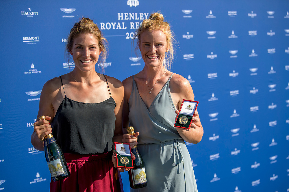 Womens Pairs winners at HRR2017 Kerri Gowler (Aramoho Wanganui RC) and Grace Prendergast (Avon RC) NZ Womens Coxless Pair at  Henley on Thames, United Kingdom. Sunday 2nd July 2017. © Copyright Steve McArthur / www.photosport.nz
