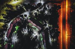 THEMENBILD - Strasse, Häuser und Landschaft in der Nacht, aufgenommen am 24. November 2018 in Ruka, Finnland // Road, houses and landscape at night, Ruka, Finland on 2018/11/24. EXPA Pictures © 2018, PhotoCredit: EXPA/ JFK