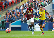 Jores Okore of Aston Villa on the ball during the The FA Cup match between Arsenal and Aston Villa at Wembley Stadium, London, England on 30 May 2015. Photo by Phil Duncan.