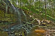 Sixteen Mile Creek trickles over Louth Falls in the Niagara Peninsula<br /> Jordan<br /> Ontario<br /> Canada