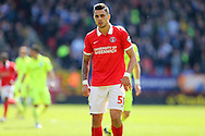 Jorge Teixeira of Charlton Athletic looks on. Skybet football league championship match, Charlton Athletic v Brighton & Hove Albion at The Valley  in London on Saturday 23rd April 2016.<br /> pic by John Patrick Fletcher, Andrew Orchard sports photography.
