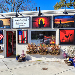 Rehoboth Beach, DE, USA - March 11, 2012: A decoraged art shop in Rehoboth Beach, Delaware