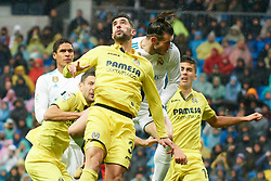 La Liga match between Real Madrid and Villareal CF at Santiago Bernabeu on January 13, 2018 in Madrid. 13 Jan 2018 Pictured: Gareth Bale (midfielder; Real Madrid), Alvaro Gonzalez (defender; Villarreal CF). Photo credit: MEGA TheMegaAgency.com +1 888 505 6342