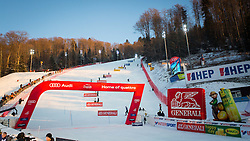 """Course during FIS Alpine Ski World Cup 2016/17 Ladies Slalom race named """"Snow Queen Trophy 2017"""", on January 3, 2017 in Course Crveni Spust at Sljeme hill, Zagreb, Croatia. Photo by Ziga Zupan / Sportida"""
